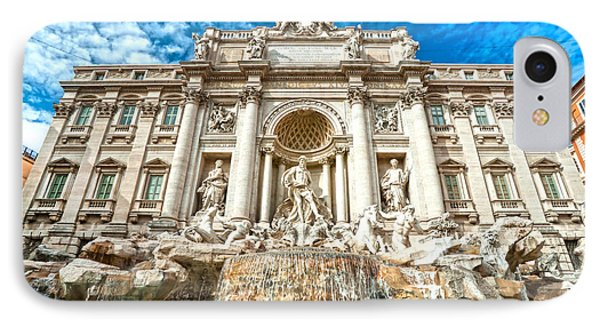 Trevi Fountain - Rome IPhone Case