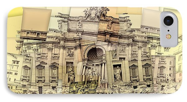 Trevi Fountain Cubism IPhone Case