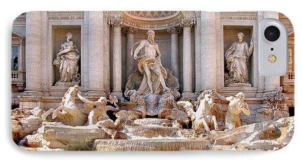 3 Coins Trevi. Rome IPhone Case by Jennie Breeze