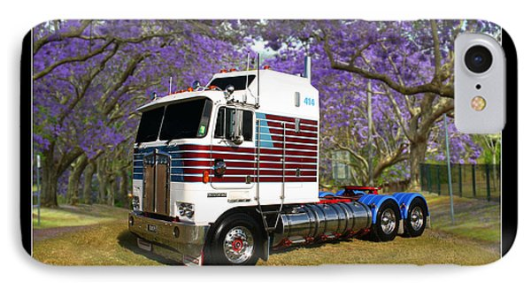 IPhone Case featuring the photograph Trev's Kenworth by Keith Hawley