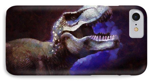 Trex Roar IPhone Case by Pixel Chimp