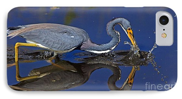 Tri Color Heron Splash IPhone Case