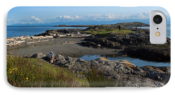 Trial Island And The Strait Of Juan De Fuca II Phone Case by Louise Heusinkveld