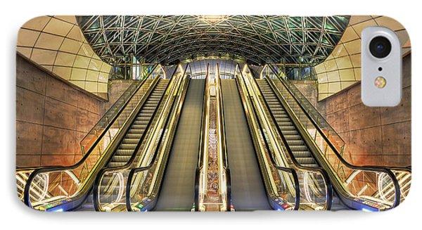 Triangeln Station Escalators IPhone Case