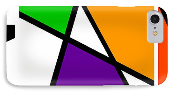 Triangularism Triptych  I IPhone Case by Richard Reeve