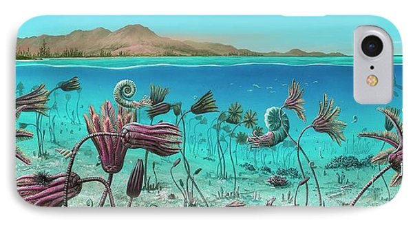 Triassic Land And Marine Life IPhone Case
