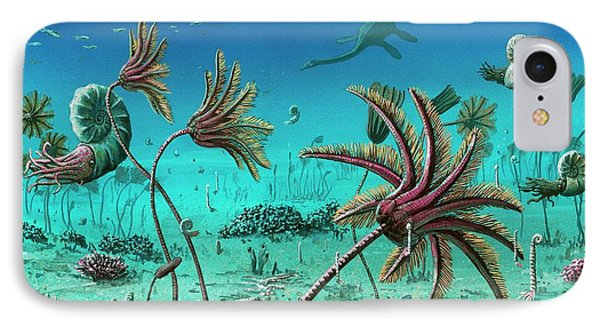 Triassic Underwater Scene IPhone Case by Richard Bizley