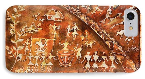 Tribal Art Phone Case by Geeta Biswas