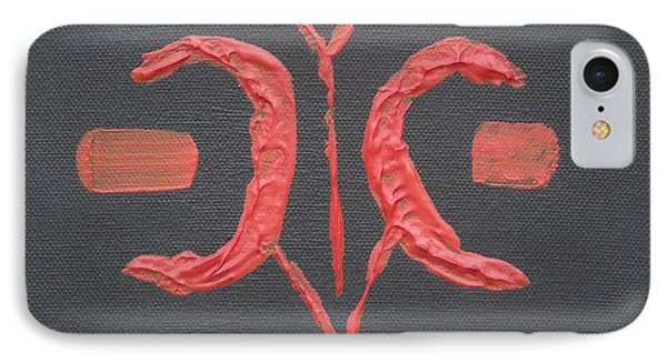 IPhone Case featuring the painting Tribal Chilli by Martin Blakeley