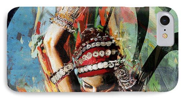 Tribal Dancer 4 IPhone Case by Mahnoor Shah
