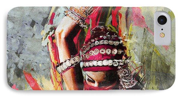 Tribal Dancer 5 IPhone Case by Mahnoor Shah