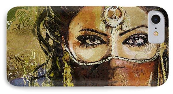 Tribal Dancer 6 IPhone Case by Mahnoor Shah