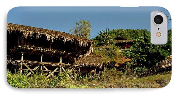 Tribal Homes In Arunachal Pradesh IPhone Case by Jaina Mishra