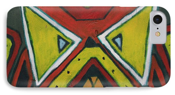 Tribal Mask IPhone Case by Jerry Bunger