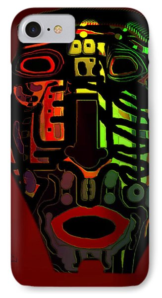 Tribal Mask Phone Case by Natalie Holland