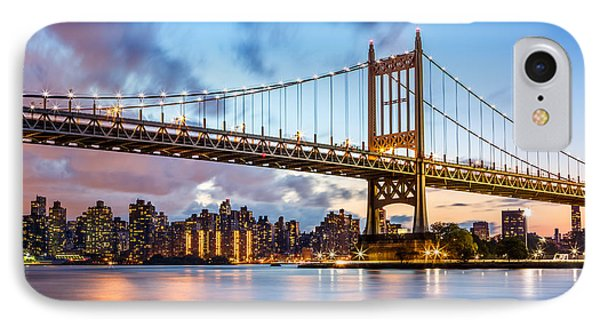 IPhone Case featuring the photograph Triboro Bridge At Dusk by Mihai Andritoiu