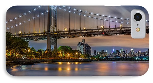 IPhone Case featuring the photograph Triboro Bridge by Mihai Andritoiu