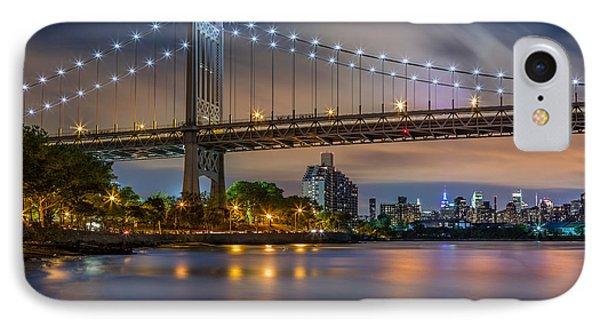 Triboro Bridge IPhone Case by Mihai Andritoiu