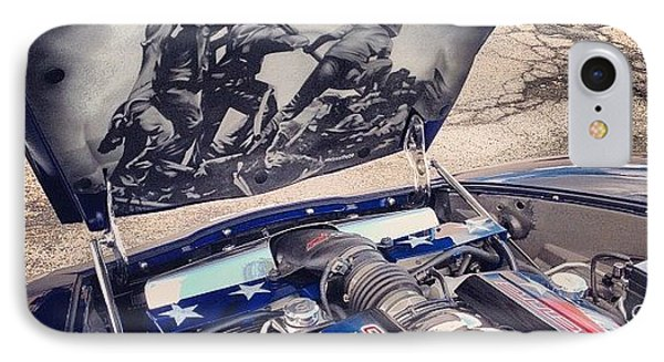 Tribute #corvette To All Veterans #usa IPhone Case by Mike Maher