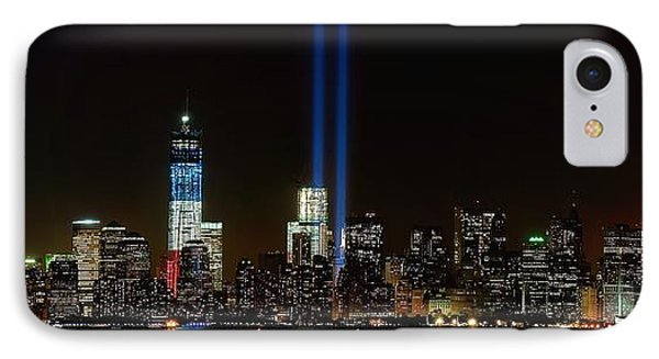 Tribute In Light From Bayonne IPhone Case by Nick Zelinsky