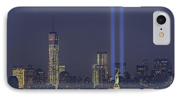 Tribute In Lights 2013 IPhone Case by Susan Candelario