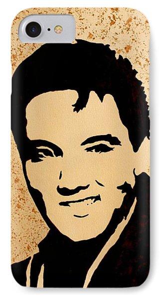 Tribute To Elvis Presley Phone Case by Georgeta  Blanaru