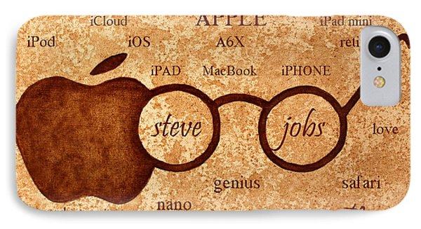 Tribute To Steve Jobs 2 Digital Art Phone Case by Georgeta  Blanaru