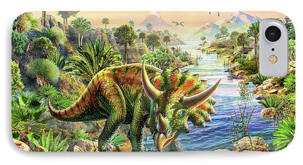 Triceratops 2 IPhone Case