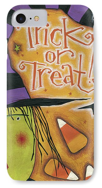 Trick Or Treat IPhone Case by Anne Tavoletti