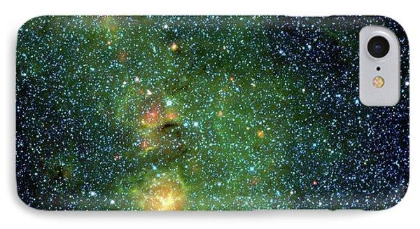 Trifid Nebula IPhone Case by Nasa/jpl-caltech/ucla