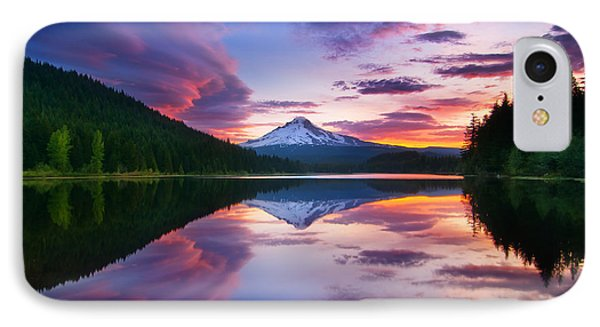 Trillium Lake Sunrise IPhone Case