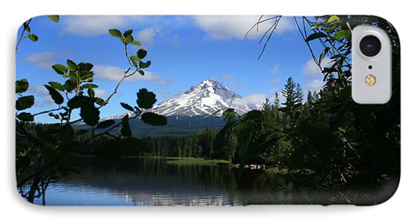 IPhone Case featuring the photograph Trillium Lake With Mt. Hood  by Ian Donley