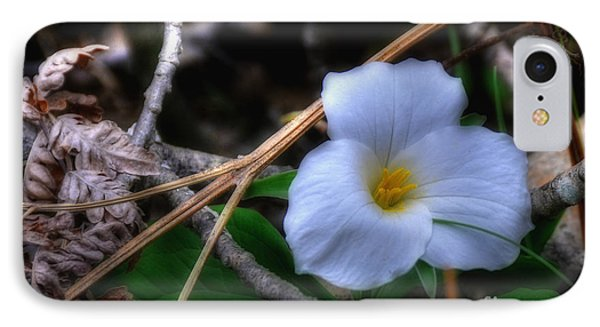 IPhone Case featuring the photograph Trillium On County C by Trey Foerster