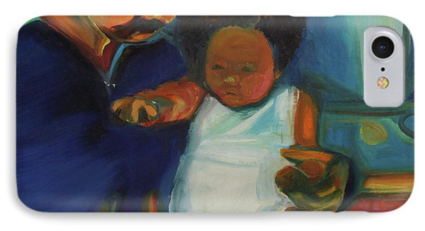 IPhone Case featuring the painting Trina Baby by Daun Soden-Greene