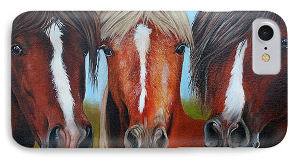 IPhone Case featuring the painting Trio by Debbie Hart