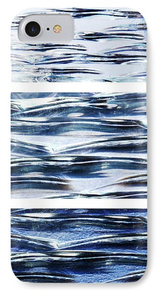 Trio In Blue IPhone Case by Wendy Wilton