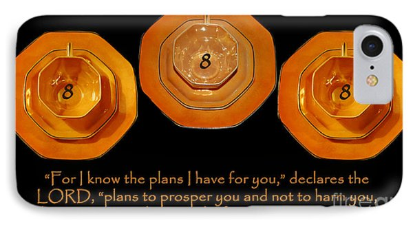 Triple Eight Octagon Saucers With Jeremiah Twenty Nine Eleven On Black IPhone Case