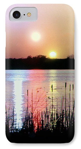 IPhone Case featuring the photograph In Camera Triple Exposed Sunset by Christopher McKenzie