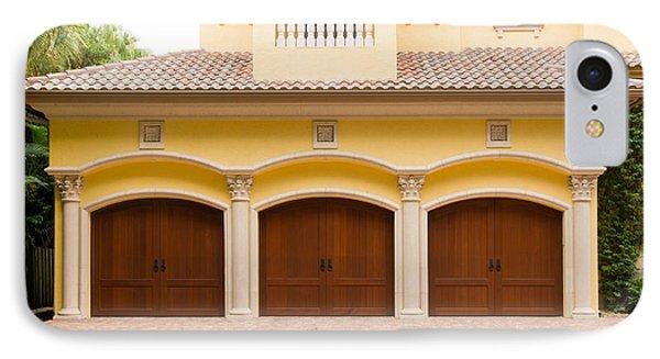 Triple Garage Doors IPhone Case by Les Palenik