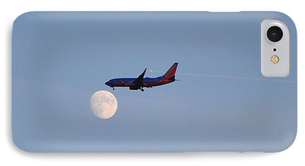 Southwest Airlines Flies To The Moon IPhone Case by Kelly Reber