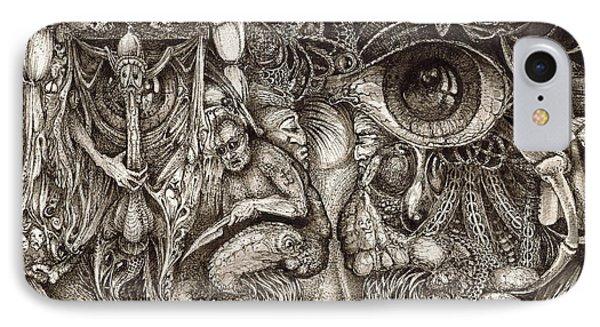 Tripping Through Bogomils Mind IPhone Case by Otto Rapp
