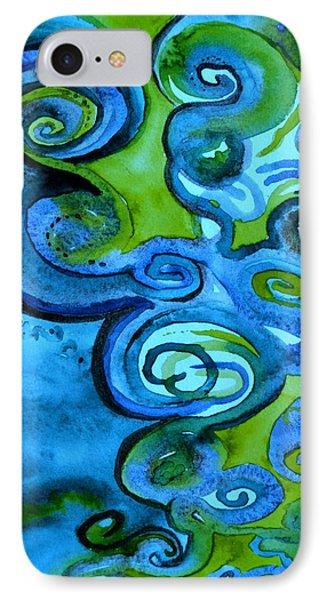 Trippy Blue Erebor IPhone Case by Beverley Harper Tinsley