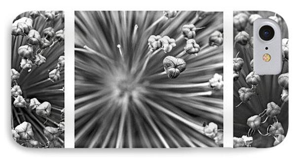 Triptych Allium Flower Phone Case by Alexander Senin