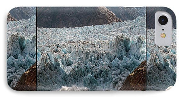 Triptych Of Sawyer Glacier, Southeast IPhone Case