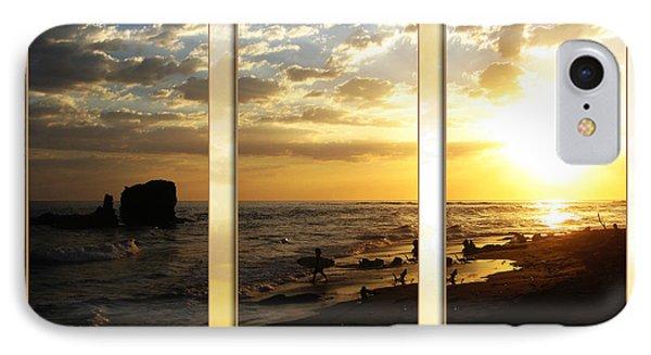 Triptych Rock On Gold Phone Case by Stav Stavit Zagron