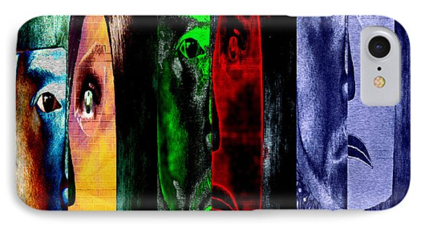 IPhone Case featuring the digital art Triptychon Paerchen II - Triptych Couple II by Mojo Mendiola