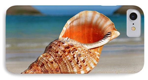 Tritan Trumpet On Lanikai Beach IPhone Case by Aloha Art