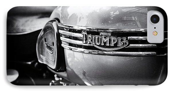 Triumph Tiger T110 Motorcycle IPhone Case by Tim Gainey
