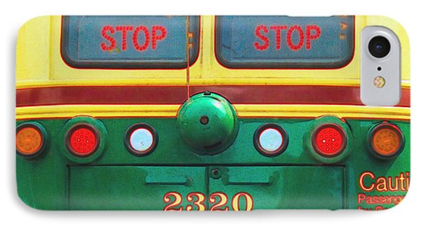 Trolley Car - Digital Art IPhone Case by Robyn King