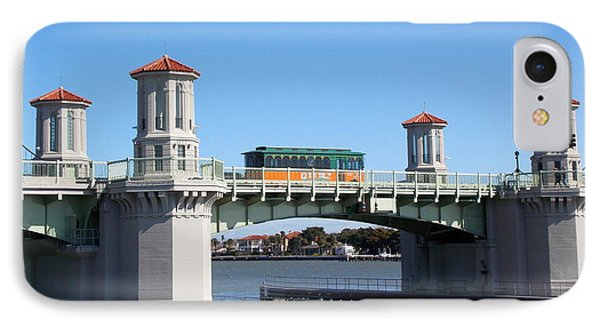 Trolley On Bridge Of Lions Phone Case by Sheri McLeroy
